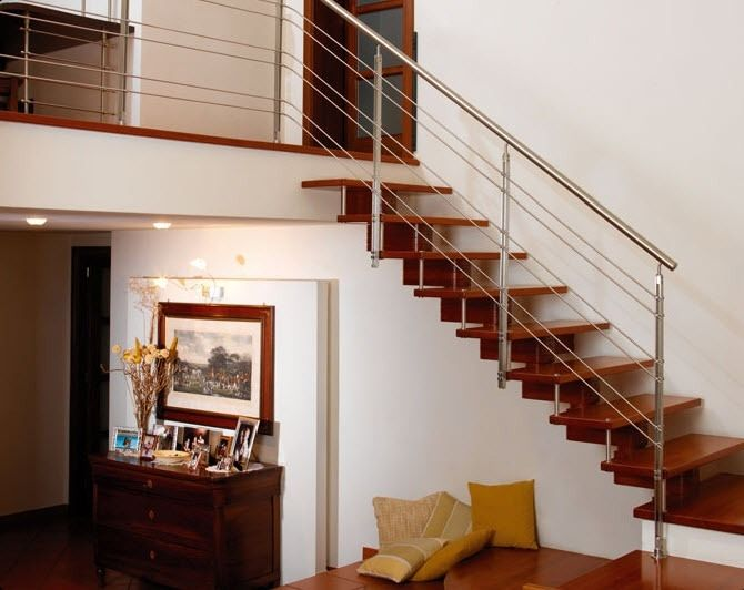 Transmobili escaleras construidas de madera maciza vivar lapacho gua tamb de estilo o - Escaleras de madera modernas ...